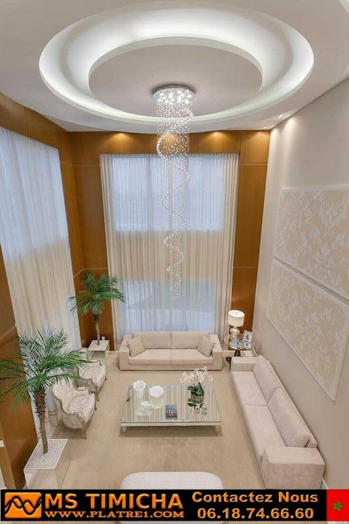 décoration du plafond pour salons en plâtre
