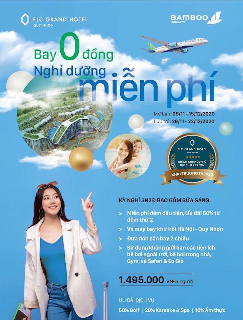 Ưu đãi combo FLC Quy Nhơn + Bay Bamboo 3N2Đ