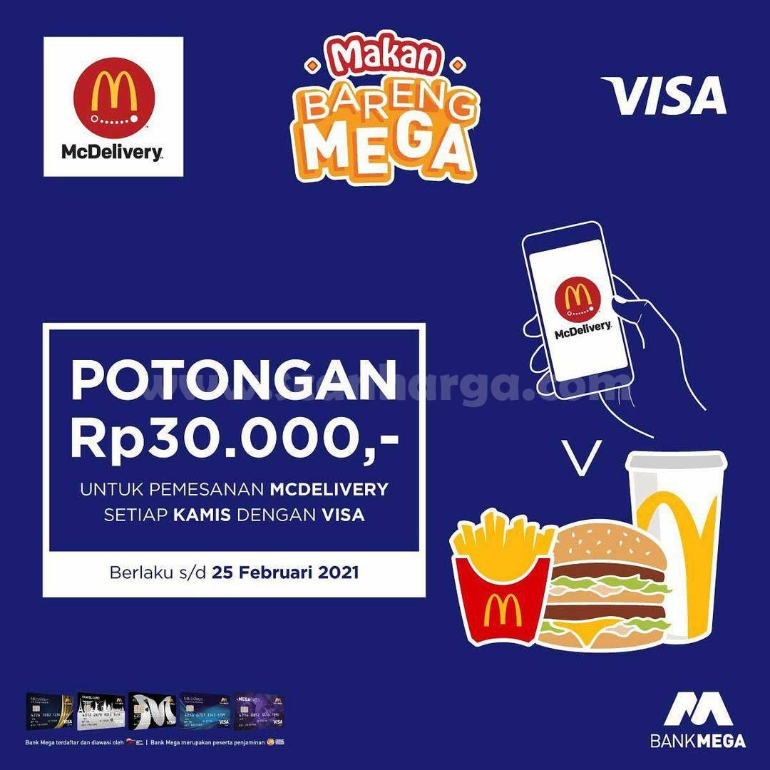 McDelivery Promo Potongan 30ribu dengan Kartu Kredit Bank Mega berlogo VISA