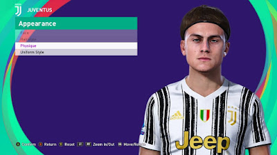 PES 2021 Faces Paulo Dybala by SR