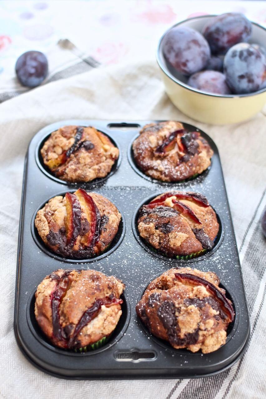 Zwetschken-Schoko-Muffins Rezept