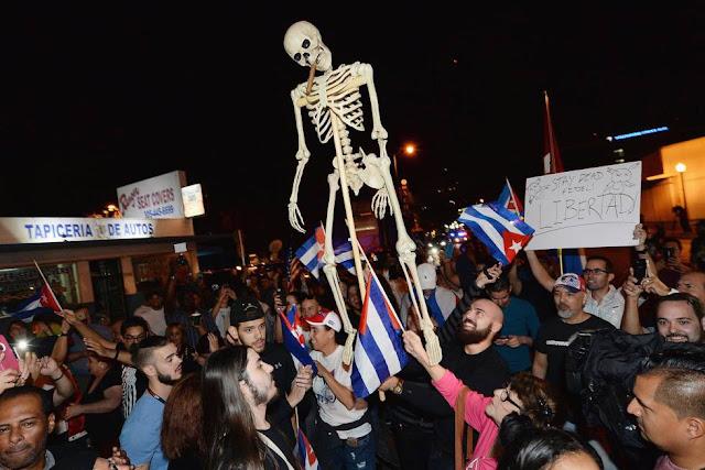 Fotos celebración muerte Fidel Castro
