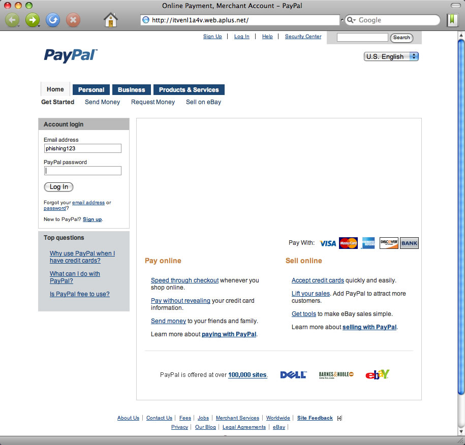 Download PayPal Phishing Page | Cyber warriors