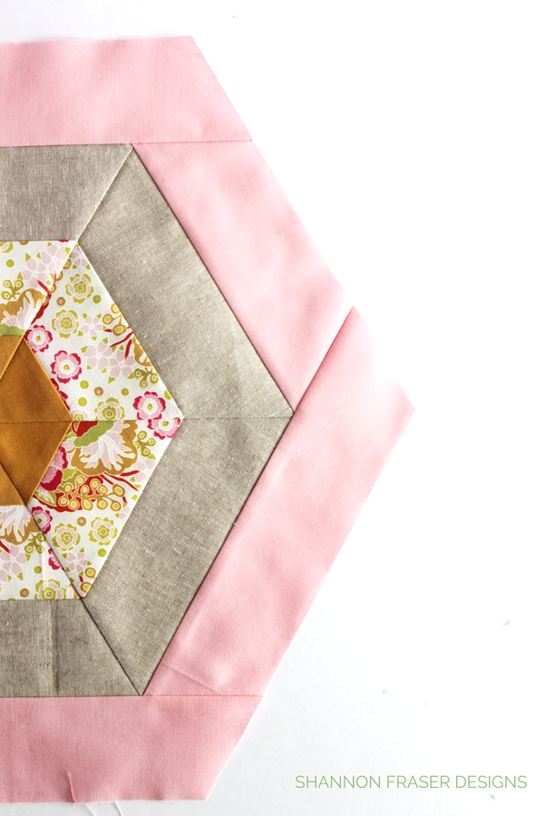Hexie pillow | Q3 Finish-a-Long | Shannon Fraser Designs #hexies
