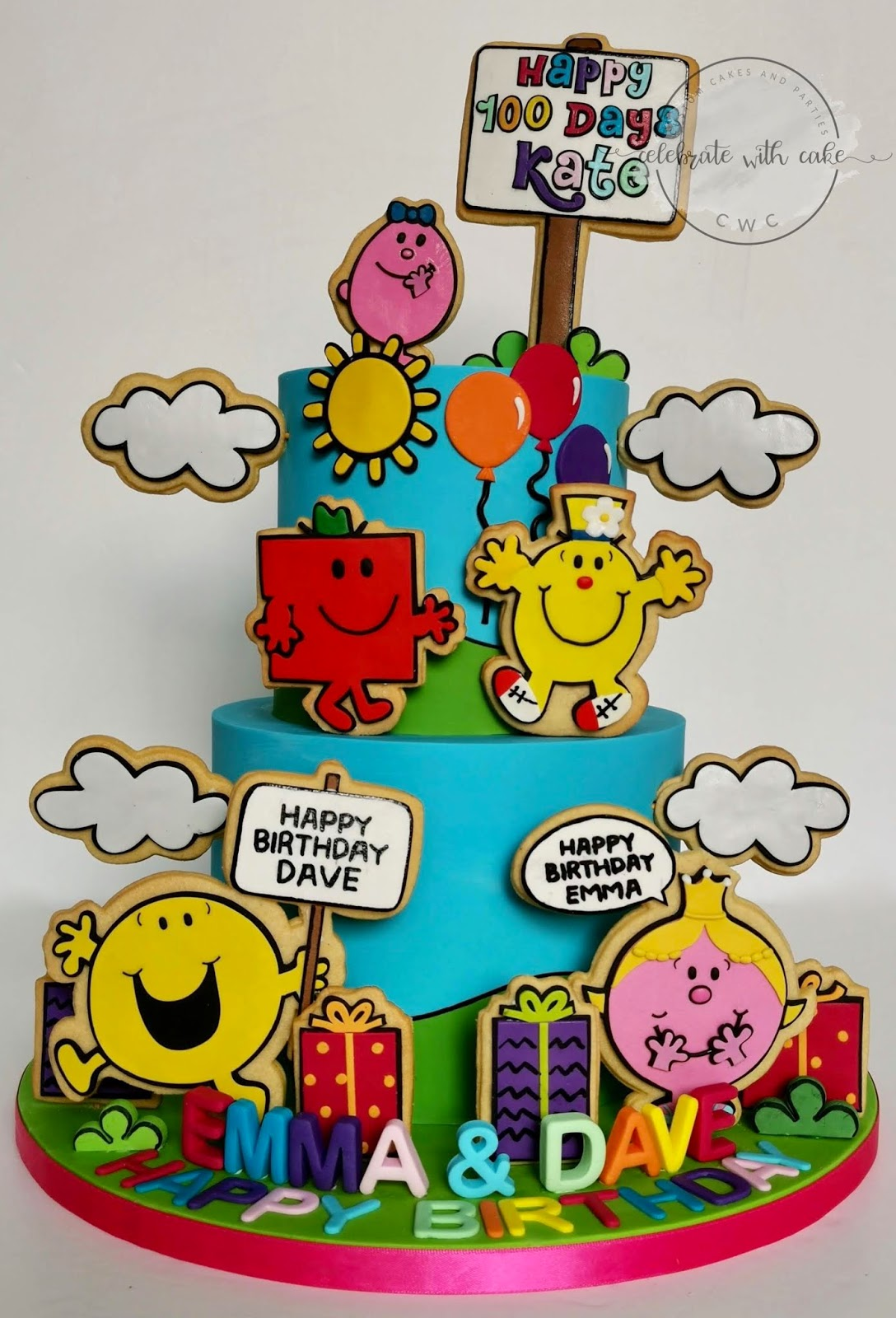24 Mr Men Little Miss Theme Edible Wafer Paper Cup Cake Toppers