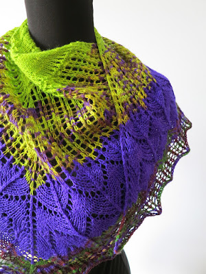 Knitting Like Crazy: Savanna Shawl by Jen Lucas