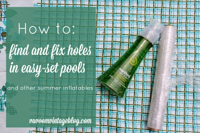 how to find and fix holes in easy set pool and summer pool floats