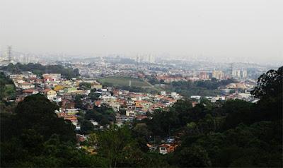 Vila Clarice e além com vista a partir da rua Mar Alto