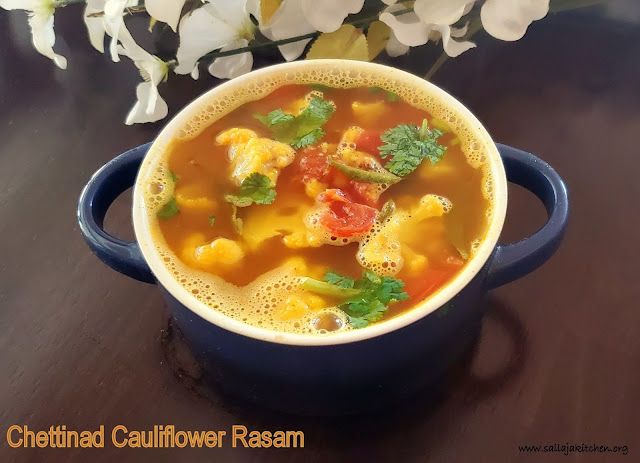 images of  Chettinad Cauliflower Rasam / Chettinad Cauliflower Soup / Cauliflower Rasam / Rasam Recipes