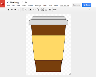 Using Google Drawings to Create SVG Cut Files - coffee mug