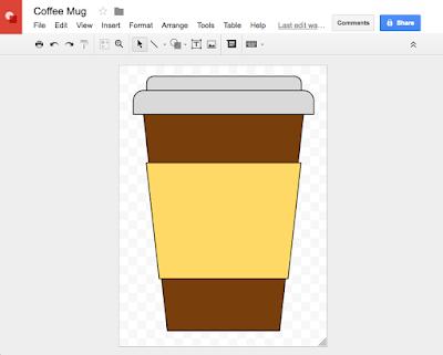 Using Google Drawings to Create SVG Cut Files - coffee mug