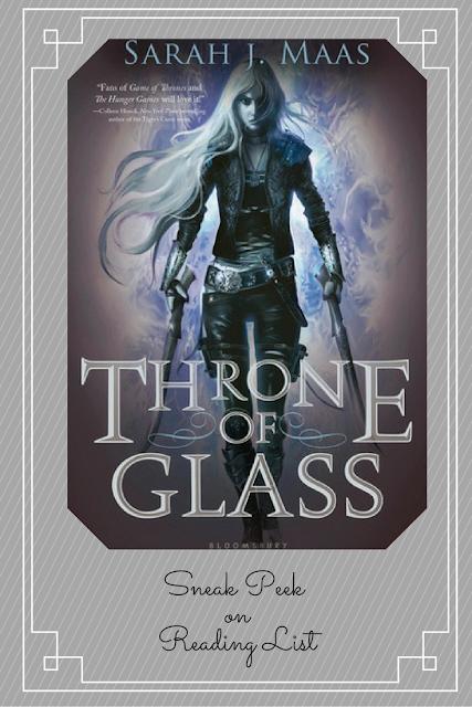 Throne of Glass by Sarah J Maas a Sneak Peek on Reading List