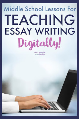 If you're looking for a way to teach text-based writing DIGITALLY for middle school, then you need to read this post!