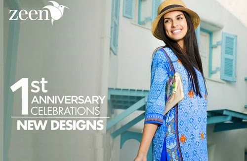 0bbc4b8ed8 Zeen 1st Anniversary Collection 2015-16 | Zeen by Cambridge Summer Special  Prints 2015 | She-Styles | Pakistani Designer Dresses - Fashion Weeks - Lawn  ...