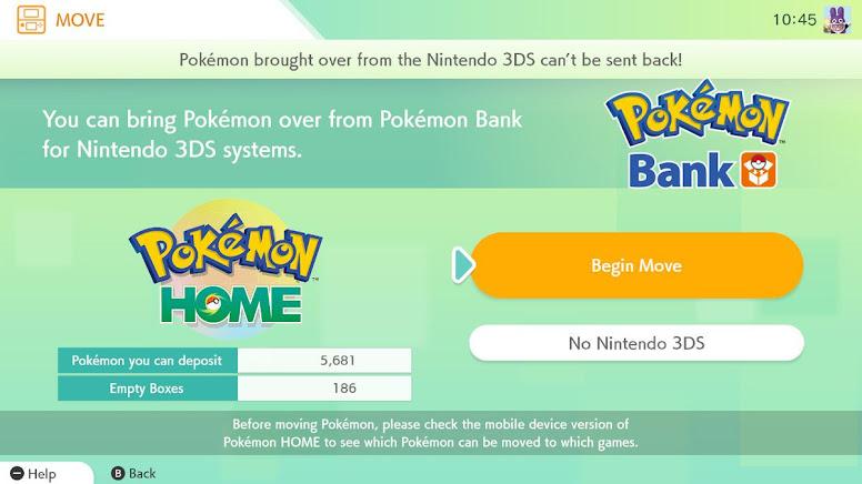 Pokémon Bank to Pokémon HOME