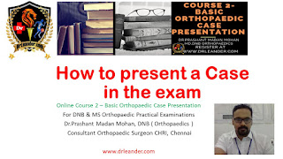 how to present a case in the exam