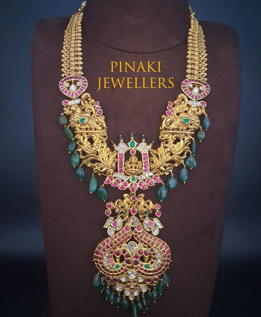 Peacock Nakshi Necklace by Pinaki Jewellers