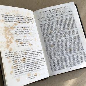 Letter inside King James 1769 standard version bible
