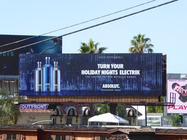 Absolut vodka holiday nights electrik billboard