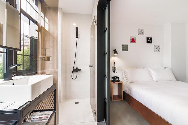艾特文旅 Art'otel - 園景高級雙人間浴室