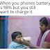 When you phones battery is 98% but you still want to charge it