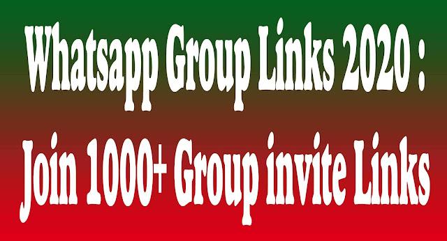 10000+ Active WhatsApp Group Links   January 2020