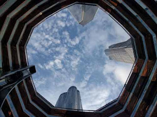 Looking Up From Inside The Vessel in New York City.