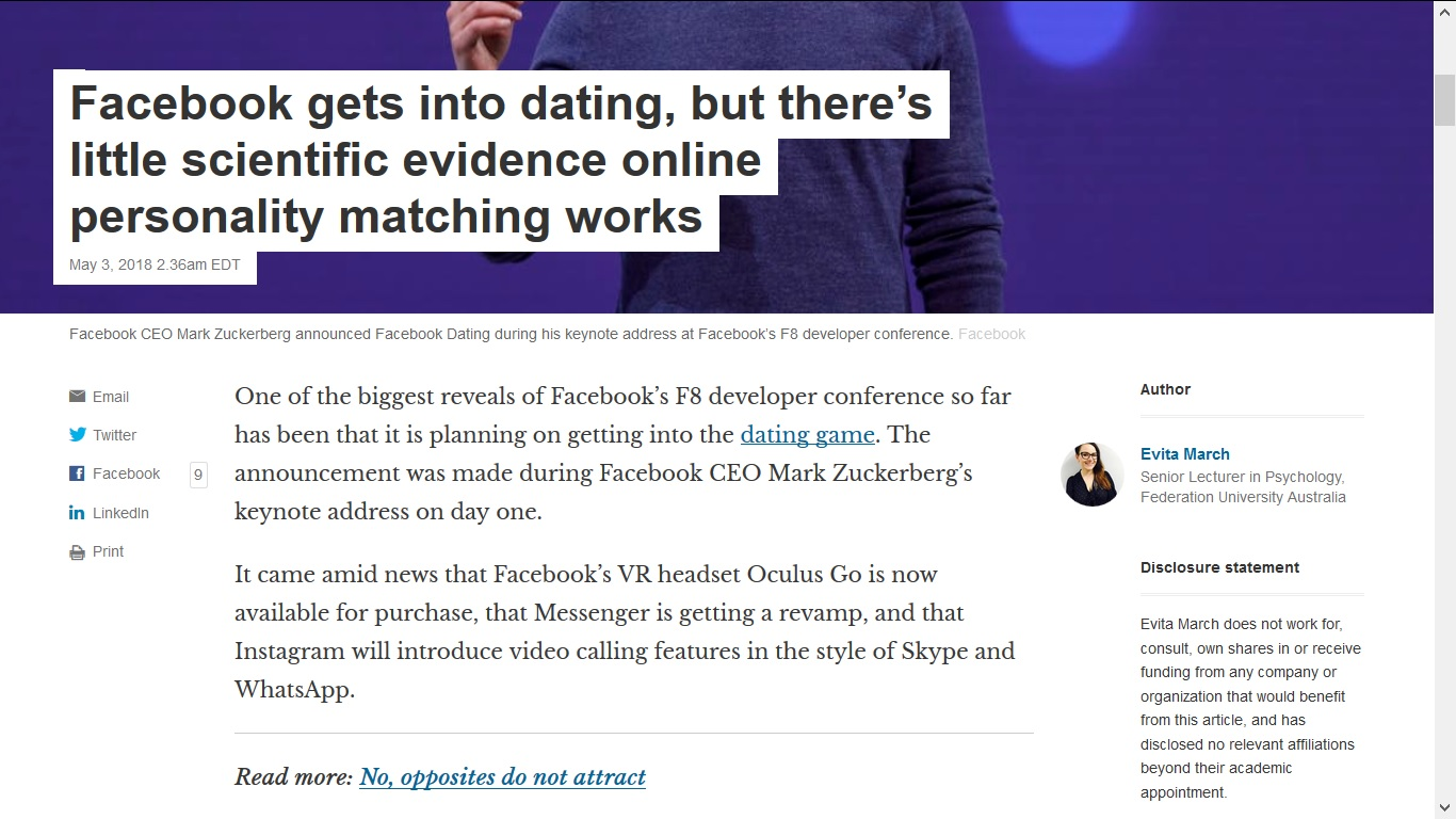 Best online dating site 2018 conference