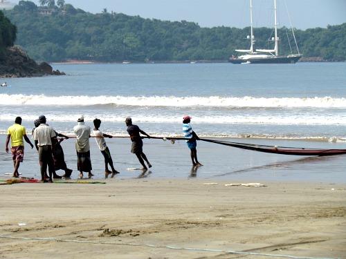 Fishermen, Fishing, Beach, Sri Lanka