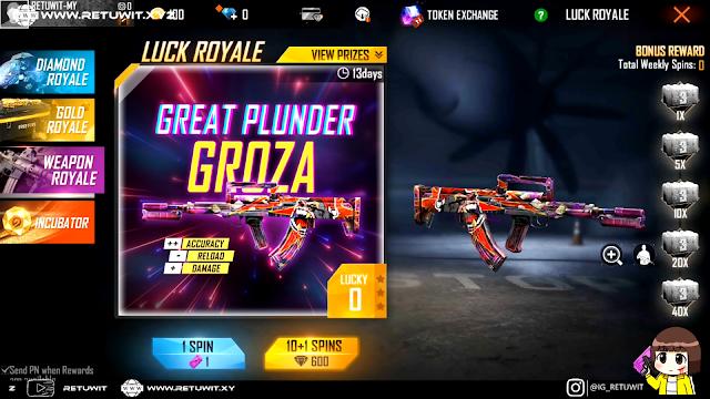 Bocoran Bundle Diamond Royale dan Weapon Royale Terbaru Free Fire