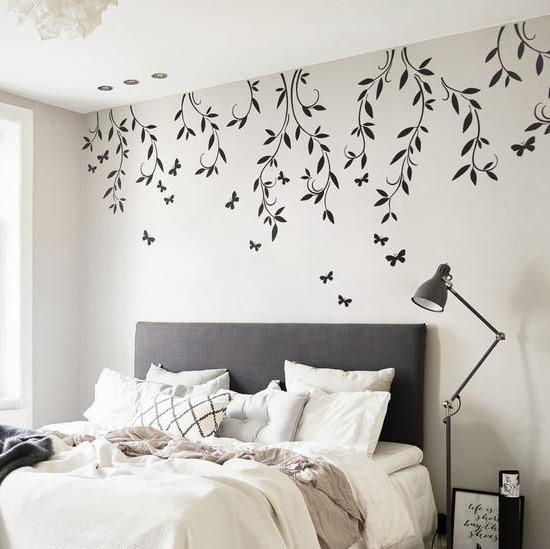 Wallpaper Kamar Tidur Romantis Minimalis Tampil Elegan