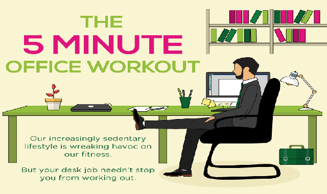 The 5 Minute Office Workout #infographic