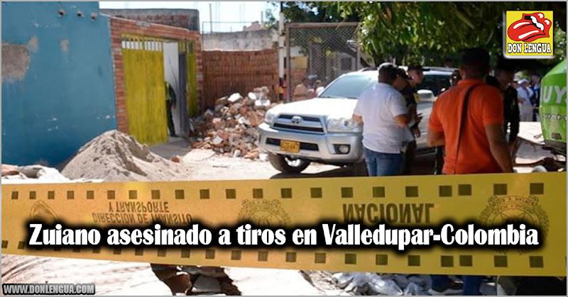 Zuiano asesinado a tiros en Valledupar-Colombia