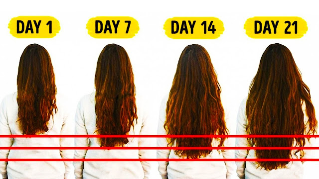 how much does hair grow in a month