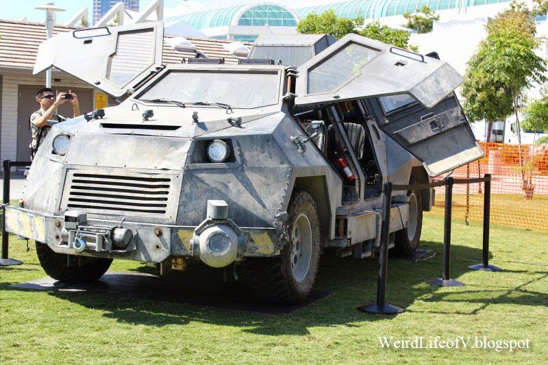 The Titus from Into the Storm on display behind the San Diego Convention Center during San Diego Comic Con 2014.