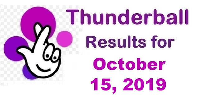 Thunderball Results for Tuesday, October 15, 2019