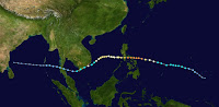 TYPHOON DURIAN STORM PATH