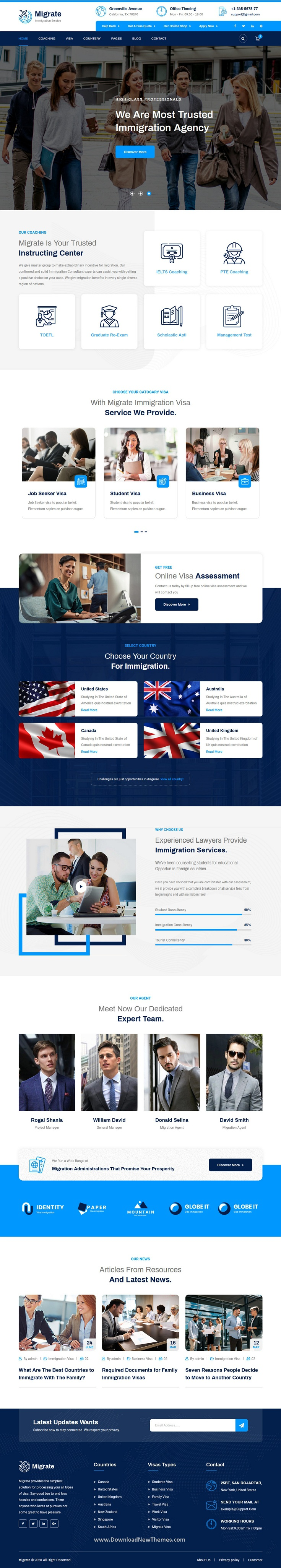 Immigration and Visa Consulting Template