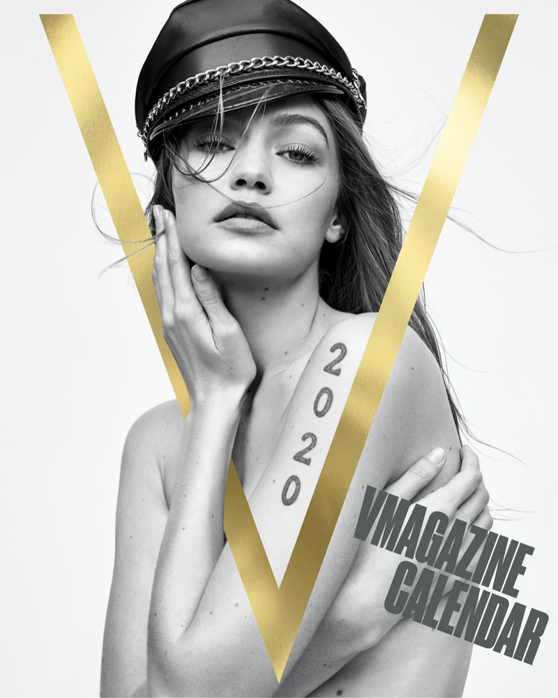 Gigi Hadid on V Magazine 2020 Calendar Cover. Photo: Zoey Grossman for V Magazine