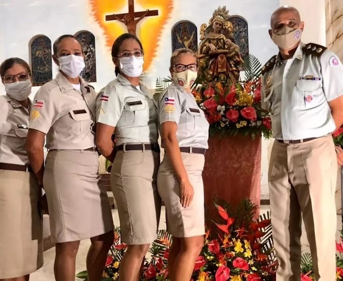 Policiais do 16° BPM são homenageados na SEMANA NOSSA SENHORA SANT'ANA