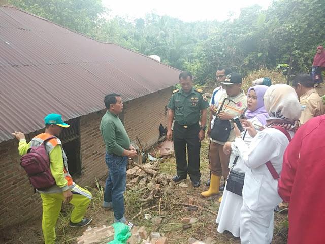 Pasca Bencana Longsor, Danramil 08 Sei Geringging Himbau Warga Waspada