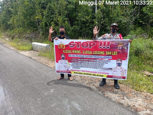Briptu Wahyudi Eko Imbau Masyarakat Stop Penambangan Ilegal