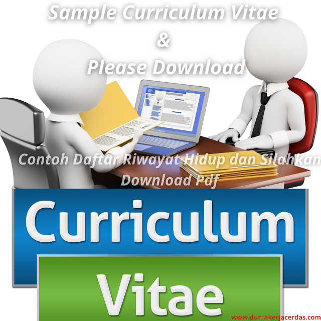 Contoh Curriculum Vitae Yang Disukai HRD dan Silahkan Download Pdf