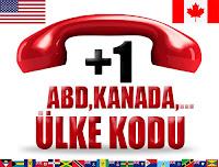 +1 Amerika ve Kanada ülke telefon kodu