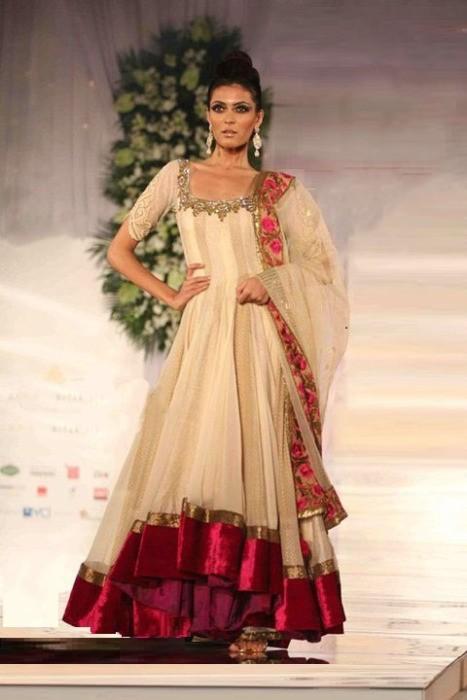 New Fashion Styles Stylish Anarkali Bridal Dress 2013