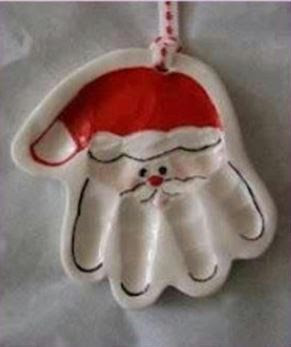 handprint santa salt dough ornament the chatty crafty 6693