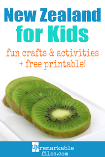 Learning about New Zealand is fun and hands-on with these free crafts, ideas, and activities for kids! #newzealand #kiwi #maori #kids #educational