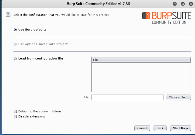 Burp Suite configuration