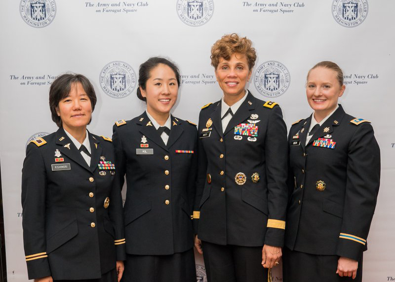 group photo with 4 military women
