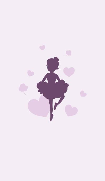 Fantasy purple ballet